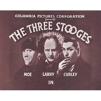 The Three Stooges Titles Poster Print (14 x 11)