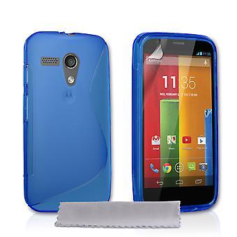 Caseflex Motorola Moto G Silicone Gel S-Line Case - Blue