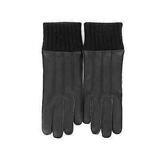 Salvatore Ferragamo men's 0675732 black leather gloves