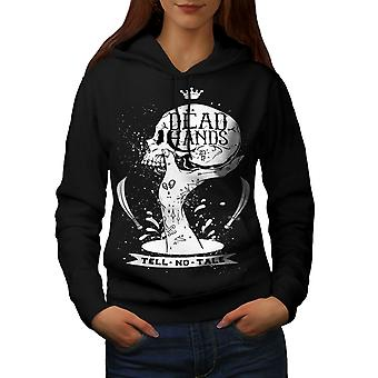 Dead Hand Goth Women BlackHoodie | Wellcoda