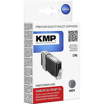 KMP Ink replaced Canon CLI-551GY, CLI-551GY XL Compatible