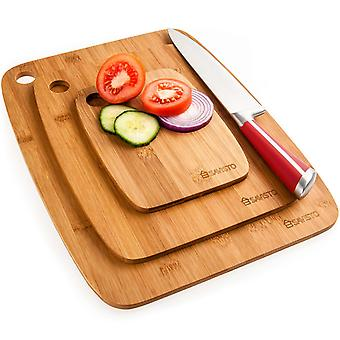 Savisto Bamboo Chopping Boards - 3 Piece Set