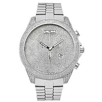 Joe Rodeo diamante reloj - Imperio plata 2,25 quilates