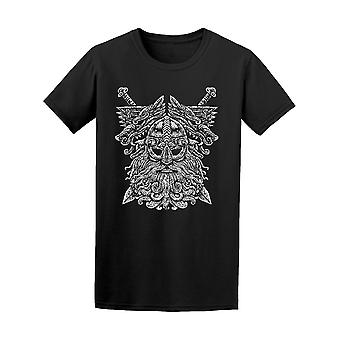Norse God Odin With Wolfs Symbol Tee Men's -Image by Shutterstock