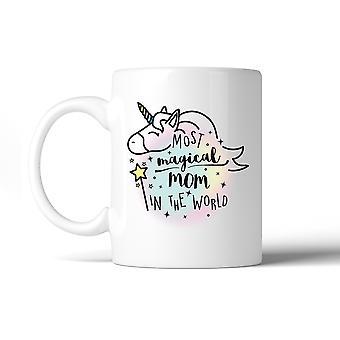 Mamá mágico unicornio cerámica café taza de 11 Oz