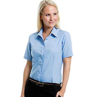 Kustom Kit Ladies City Business Blouse Short Sleeve