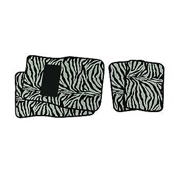 4 Piece Wild Skinz Zebra Striped Car Floor Mat Set