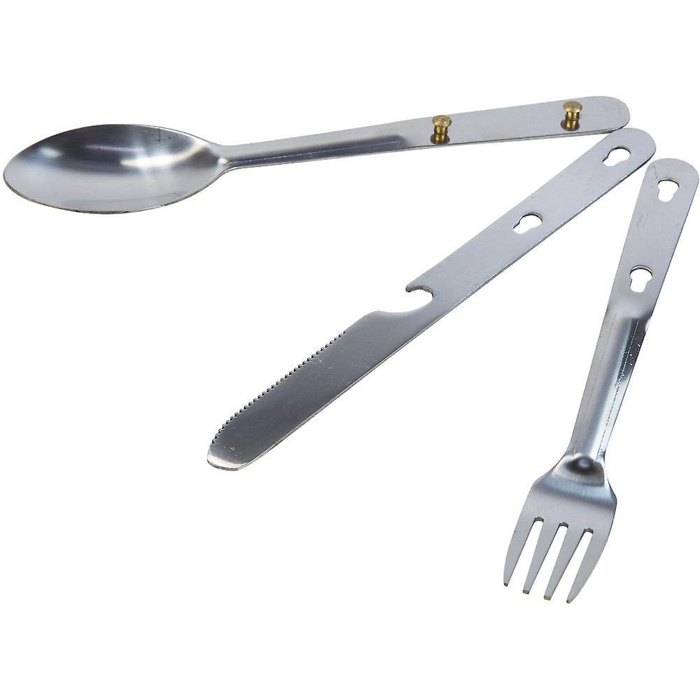 Regatta Steel Interlocking Compact Camping Cutlery Set