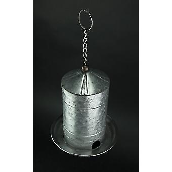 Galvanized Finish Metal Hanging Bird Feeder Farmhouse Decor