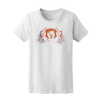 Globalization With Human Hands Tee Women's -Image by Shutterstock