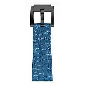 TW Steel Marc Coblen Bracelet Watch band 22 MM Croco cuir bleu LB_BL_K_B