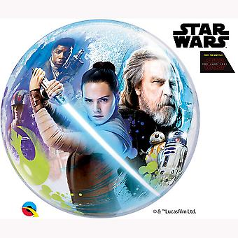 Qualatex 22 Inch Star Wars The Last Jedi Single Bubble Balloon