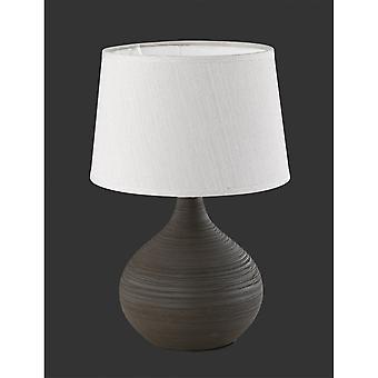 Oświetlenie nowoczesne Martin brązowy ceramiczne lampy stołowej Trio