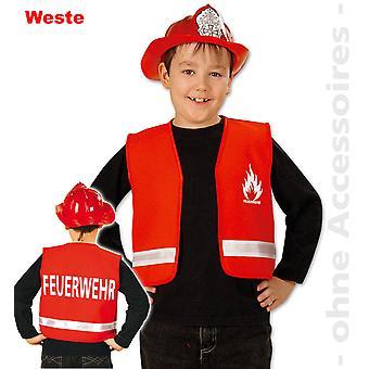 Bombero rojo traje bombero traje bombero niño de los cabritos