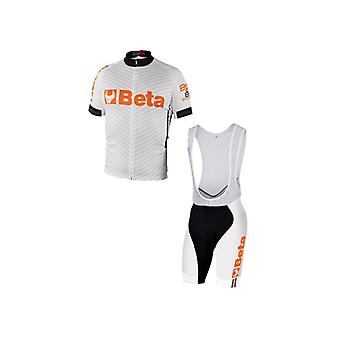 9543 W/L Beta Large Biking Jersey And Bib Shorts White Breathable Fabric