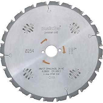 Carburo metálico sierra circular 254 x 30 x 1,8 mm cantidad de dientes: 60 Metabo HW/CT 254 X 30 60 WZ 628222000 1 PC