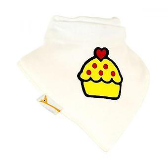 Babero bandana de blanco y amarillo de la Magdalena
