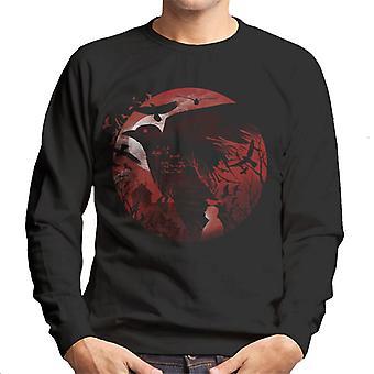 Alfred Hitchcock Silhouette The Birds Men's Sweatshirt