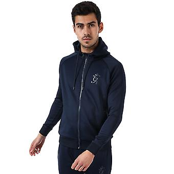Mens Gym King Tapered Poly Tracksuit Top In Navy