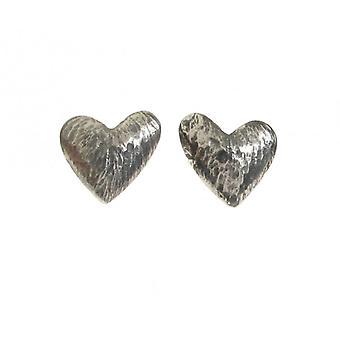 Cavendish franske oxideret Sterling sølv asymmetrisk hjerte oerespyd