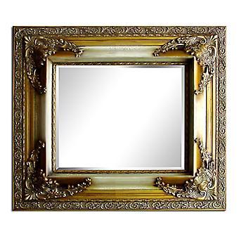 مرآة كبيرة في الذهب، وأبعاد 72 × 82 سم