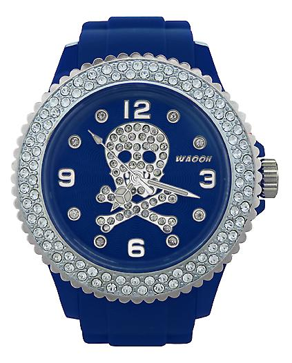 Waooh - Death Watch with 39 Rhinestones Head Rhinestone Bezel
