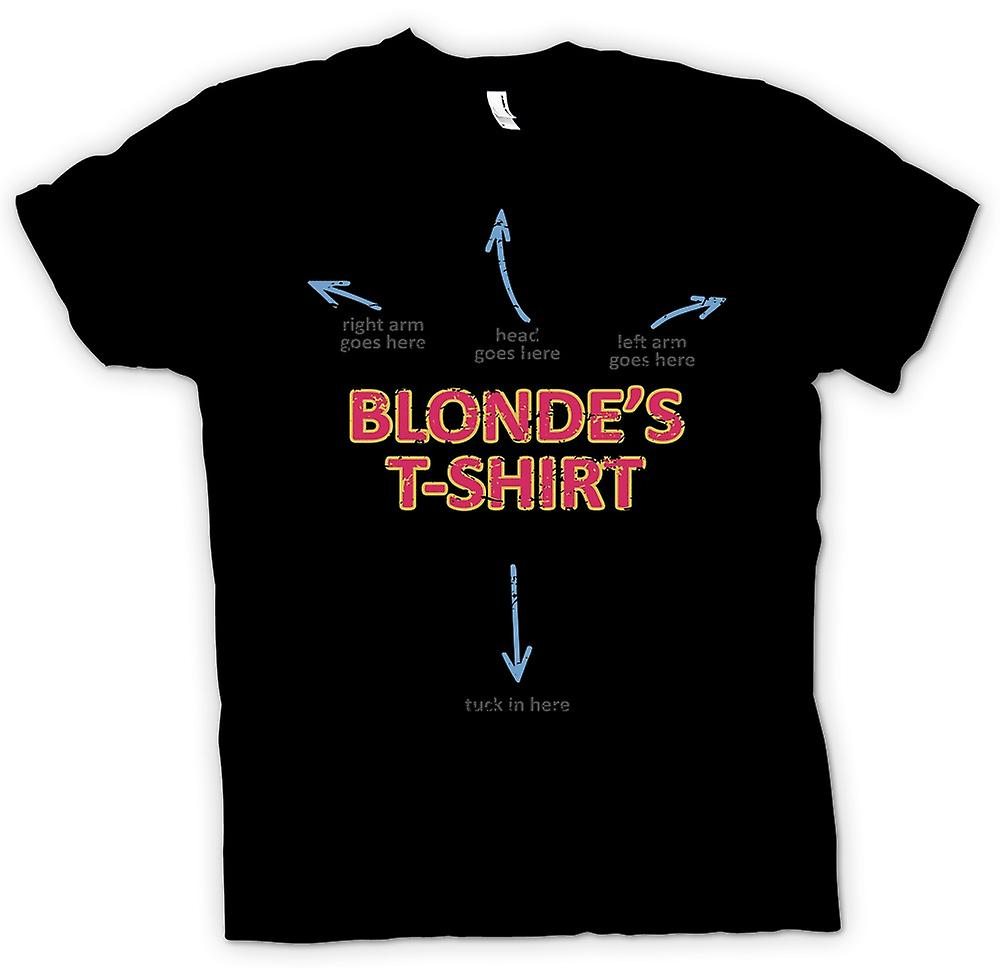 Womens T-shirt - Blondes T Shirt - Arm Goes Here - Head Goes Here - Funny