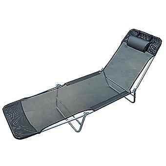 Outsunny Sun Bed Recliner Chair Adjustable Back
