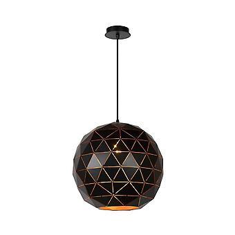 Яйца lucide Otona современный Круглый металлический черный подвеска свет