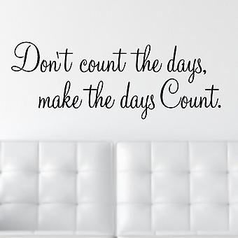 Days Wall quote sticker