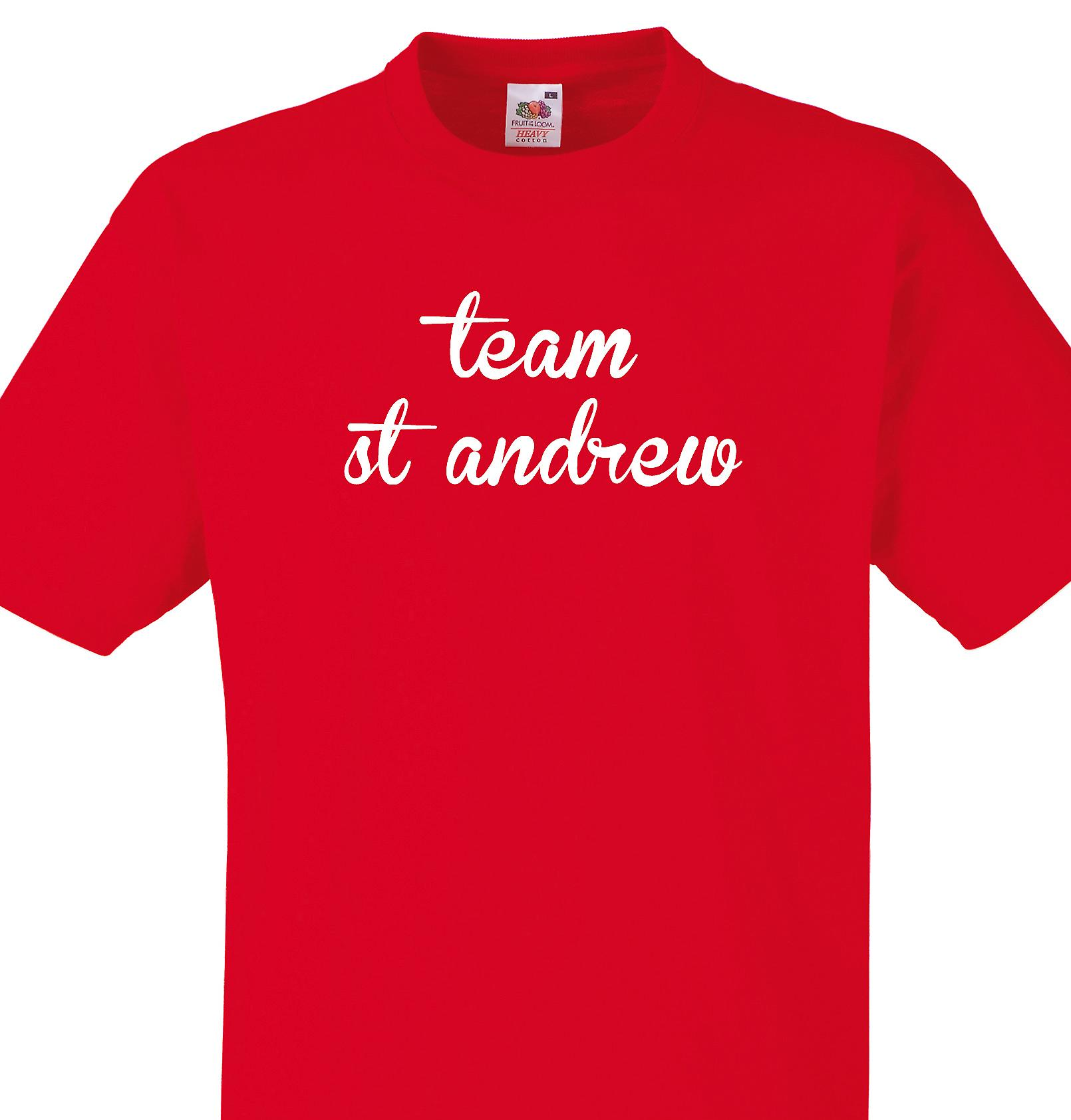 Team St andrew Red T shirt