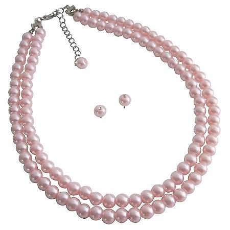 Pearls jewelry Set Most Popular Bridesmaid Gifts Pink Pearls Jewelry