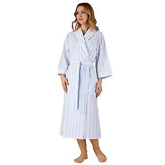 Slenderella HC3226 Women's Woven Striped Robe Dressing Gown