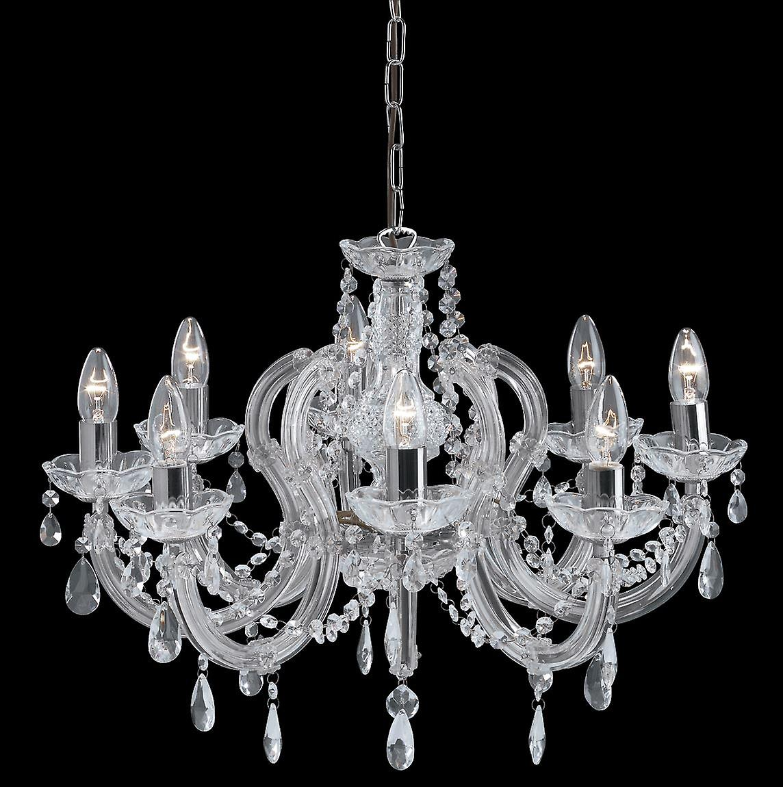 8 la lumière Marie Therese cristal Chrome montage - projecteur 399-8