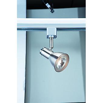 Spot og spor Satin sølv og krom enkelt Spotlight - projektør 3709SS