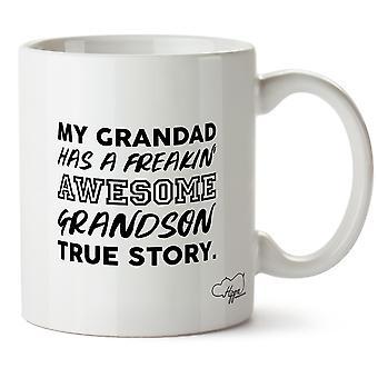 Hippowarehouse mein Opa hat eine freakin ' Awesome Enkel wahre Geschichte. Bedruckte Becher Tasse Keramik 10oz