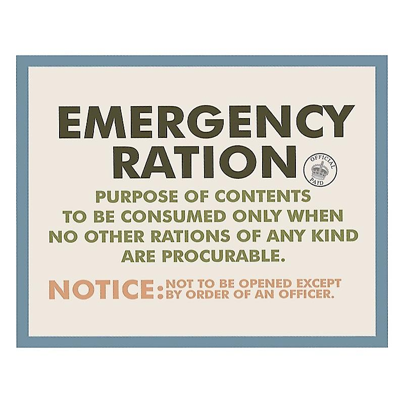 Emergency Ration fridge magnet  (hb)