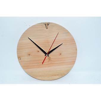 Holz Wanduhr Holz Uhr Atlaszeder 23 cm Baumscheibenuhr Holzdekoration Holzdeko Deko Geschenk Geschenkidee handmade Made in Austria cedrus