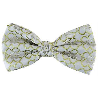 Knightsbridge Neckwear Floral Polyester Bow Tie - Green
