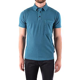 Stone Island Petrol Cotton Polo Shirt