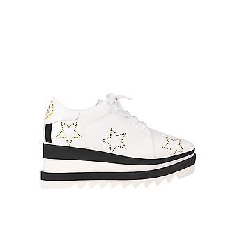 Stella Mccartney Elyse White Leather Lace-up Shoes