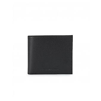 Armani Jeans Grain Leather Coin Pocket Wallet
