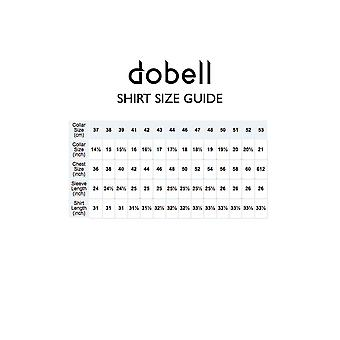 Dobell mens ljusblå linne pop-over skjorta Regular Fit Kortärmad