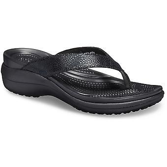 Crocs Womens Capri Supportive Cushioned Flip Flop Sandals