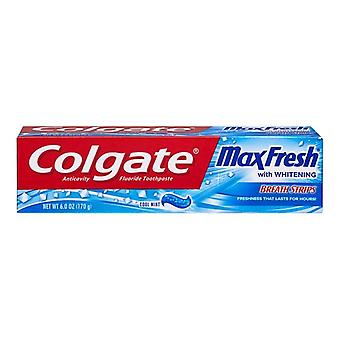 Colgate max fresh toothpaste with mini breath strips, cool mint, 6 oz