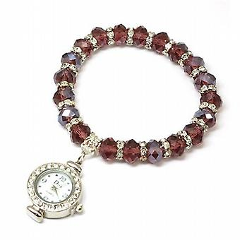 Diva Friends Purple Charm Bracelet Ladies Watch 1249B