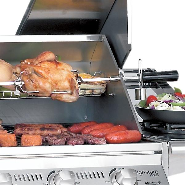 Mains Powered Beefeater 4 Burner BBQ Rotisserie