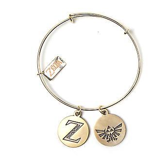 De Legend of Zelda Bracelet Armband met Z & Triforce charmes goud WB411003ZEL