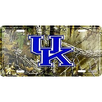 Kentucky Wildcats NCAA Camo License Plate