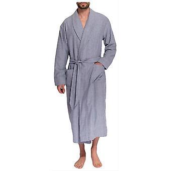 Britische Boxer Ash Herringbone Zwei Falte Flannel Robe-Grau